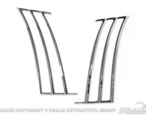 Drake Muscle Cars 2010-14 Camaro Quarter Trim-Chrome CA-190001-C