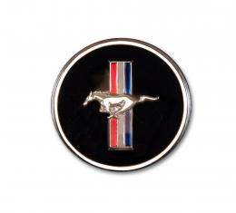 Scott Drake 1965-73 Mustang Horn Button and Dash Panel Emblem with Tri-Bar Logo C7ZZ-65044A90-M