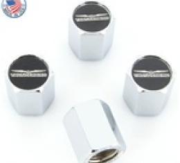 Valve Stem Caps Chrome, Ford, Thunderbird