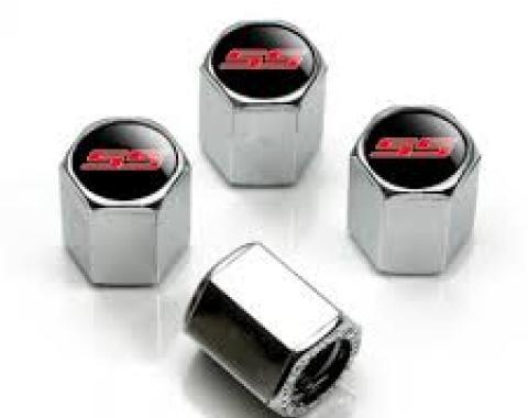Valve Stem Caps Chrome, SS Red Camaro