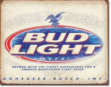 Tin Sign, BUD Light Retro
