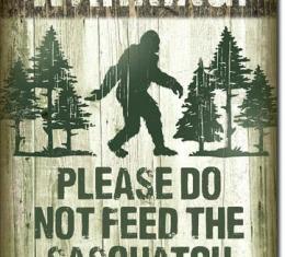 Tin Sign, Sasquatch - Don't Feed