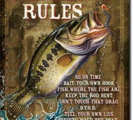 Tin Sign, JQ - Fisherman's Rules