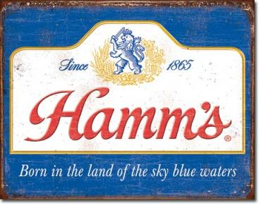 Tin Sign, Hamm's - Sky Blue Waters