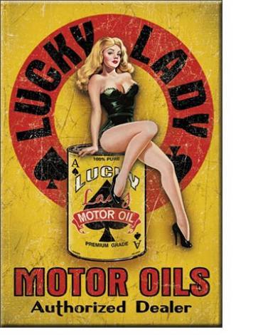Magnet, Lucky Lady Motor Oil