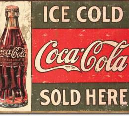 Tin Sign, COKE - c.1916 Ice Cold