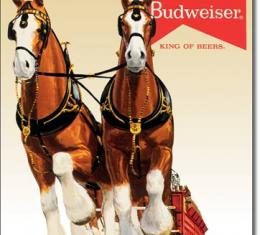 Tin Sign, Bud Clydesdale Team