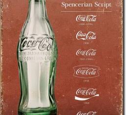 Tin Sign, COKE - Script Heritage