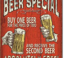 Tin Sign, Today's Beer Special