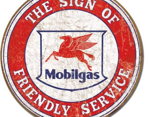 Tin Sign, Mobil - Friendly Service