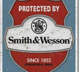 Tin Sign, Smith & Wesson - Protected By