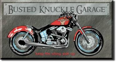 Tin Sign, Busted Knuckle - Bike
