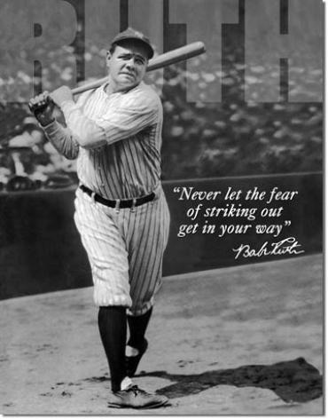 Tin Sign, Babe Ruth - No Fear