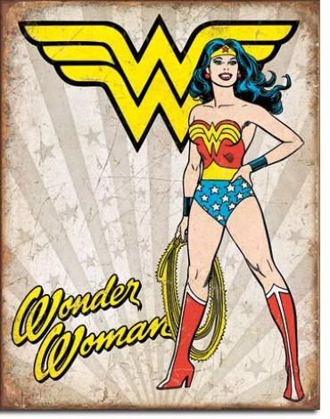 Tin Sign, Wonder Woman Heroic