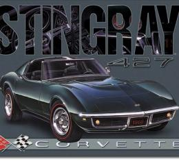 Tin Sign, Corvette - 1968 Stingray