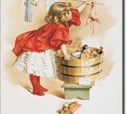 Tin Sign, Ivory Soap Girl Washing