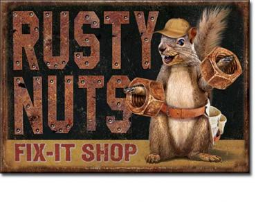 Magnet, Rusty Nuts Garage