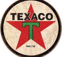 Tin Sign, Texaco '36 ROUND