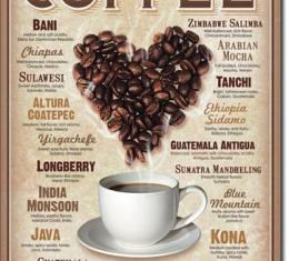 Tin Sign, Heart Coffee