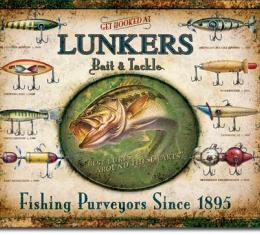Tin Sign, Lunker's Lures