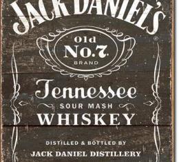 Tin Sign, Jack Daniel's - Weathered Logo