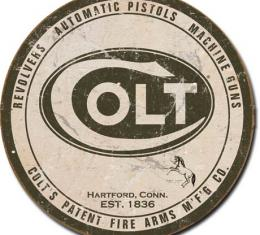 Tin Sign, Colt - Round Logo