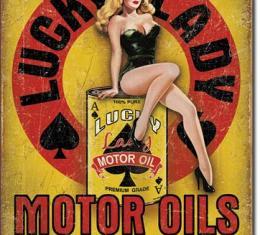 Tin Sign, Lucky Lady Motor Oil