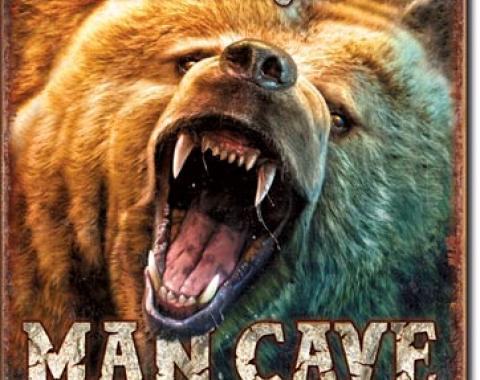 Tin Sign, Man Cave - Grizzly