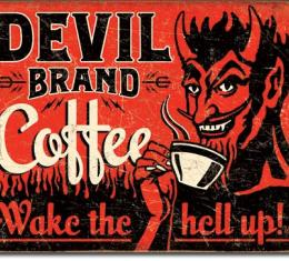 Tin Sign, Devil Brand Coffee