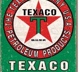 Tin Sign, Texaco Oil Weathered