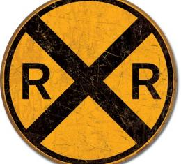Tin Sign, Railroad Crossing