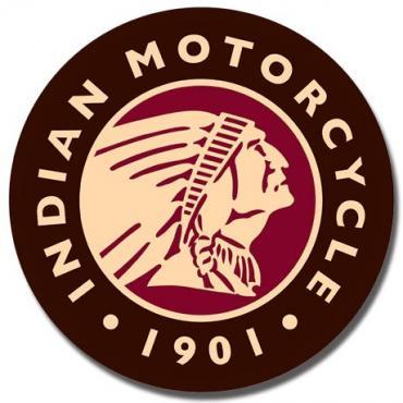 Tin Sign, Indian Logo Round
