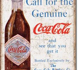 Tin Sign, COKE - Call for the Geniune