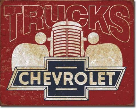 Tin Sign, Chevy Trucks 40s