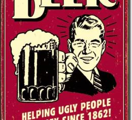 Tin Sign, Beer - Ugly People