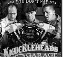 Tin Sign, Stooges - Knuckleheads Garage
