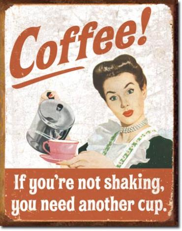 Tin Sign, Ephemera - Coffee Shaking