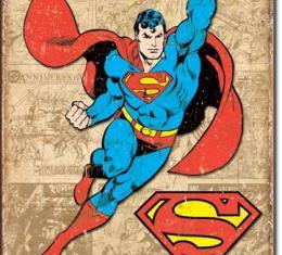 Tin Sign, Superman Weathered Panels