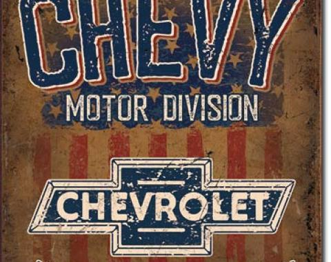Tin Sign, Chevy - American Tradition