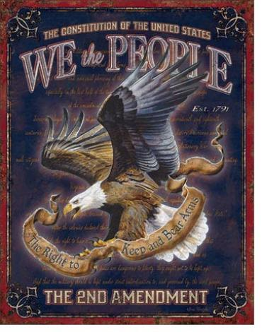 Tin Sign, We The People - 2nd Amendment