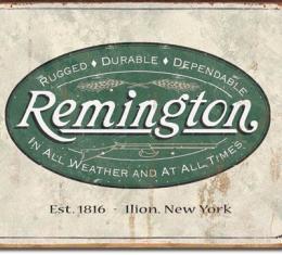 Tin Sign, REM - Weathered Logo
