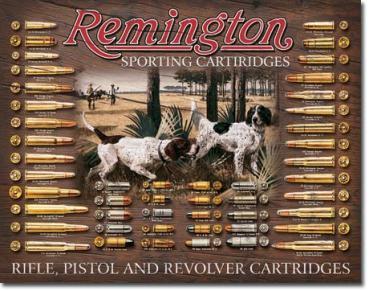Tin Sign, Remington Bullet Board