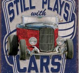 Tin Sign, Still Plays With Cars