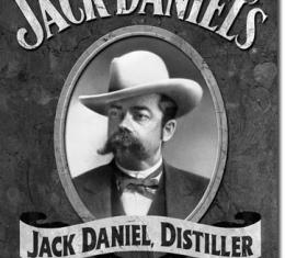 Tin Sign, Jack Daniel's - Portrait