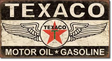 Tin Sign, Texaco Winged Logo