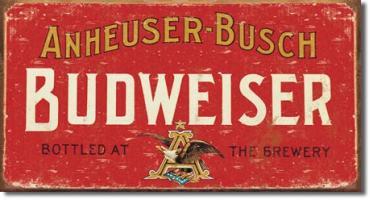 Tin Sign, Budweiser - Weathered