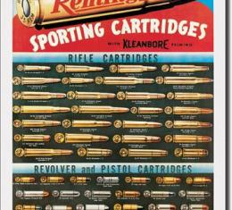 Tin Sign, Remington Cartridges