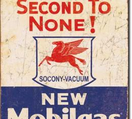 Tin Sign, Mobil Gas - 2nd to None