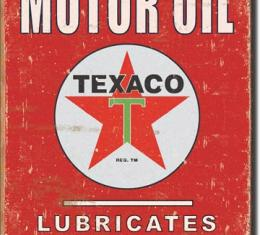 Tin Sign, Texaco - Lubricates Perfectly