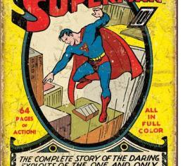 Tin Sign, Superman No1 Cover